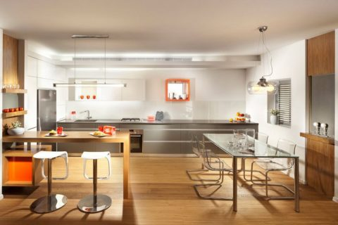 Methods of Zoning in Combined Kitchen and Living Room Interior Design