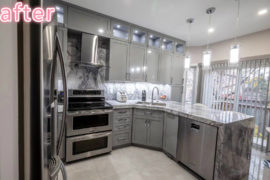 High-gloss MDF Painted Kitchen
